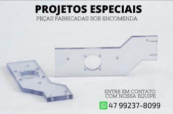 Projetos Especiais em acrílico, policarbonato e PS