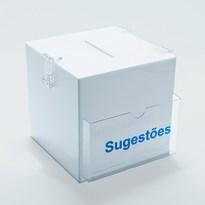 Caixa de Sugestões em Acrílico 15x15cm