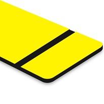 Chapa ABS Dupla Camada Amarelo/Preto - 610x300x1.5mm