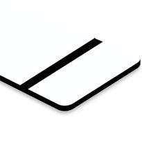Chapa ABS Dupla Camada Branco/Preto - 610x300x1.5mm
