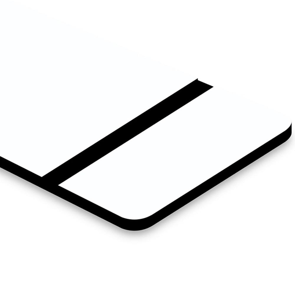 Chapa ABS Dupla Camada Branco/Preto - 610x600x1.5mm