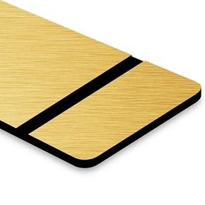 Chapa ABS Dupla Camada Escovado Dourado/Preto - 610x300x1.5mm