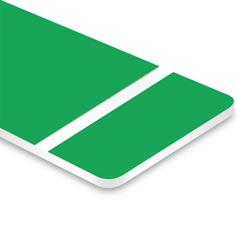 Chapa ABS Dupla Camada Verde/Branco - 610x300x1.5mm