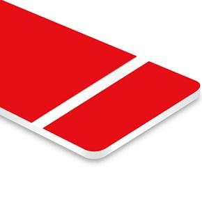 Chapa ABS Dupla Camada Vermelho/Branco - 610x300x1.5mm