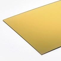 Chapa em Acrílico Espelhado Dourado - 1000x1000x1mm