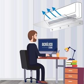 Defletor para Ar Condicionado Split 12.000BTUS