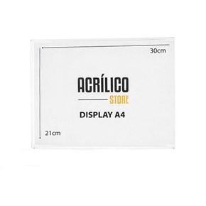 Display em Acrílico Duplo A4 Horizontal (30x21cm)