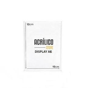 Display em Acrílico Duplo A6 Vertical (10x15cm)