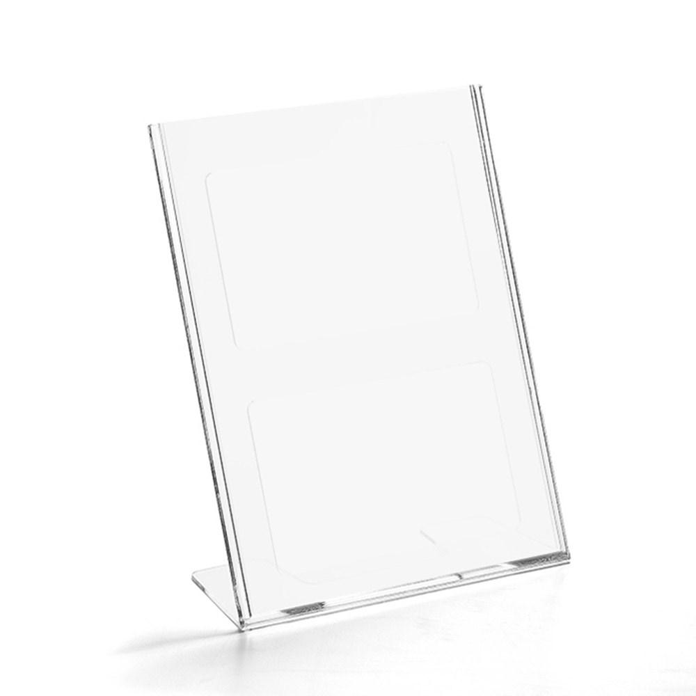 Display em Acrílico Tipo L A4 Vertical (21x30cm)
