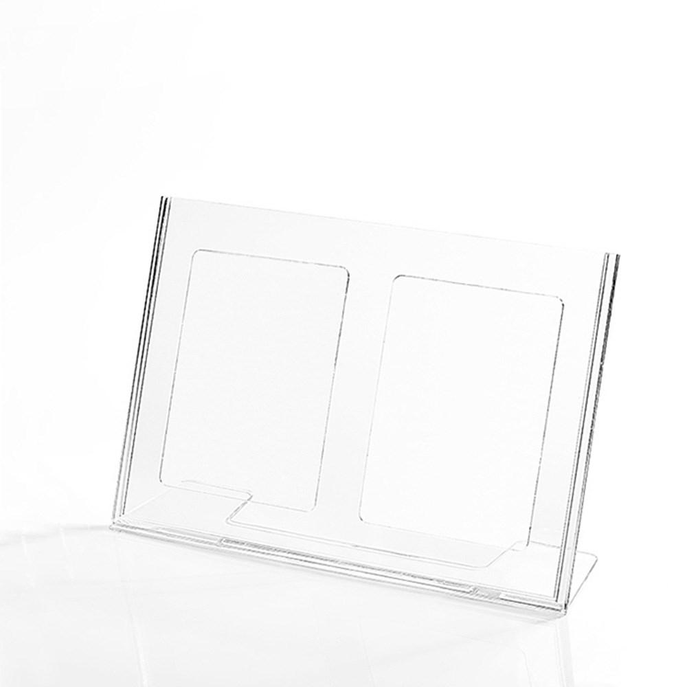 Display em Acrílico Tipo L A5 Horizontal (21x15cm)