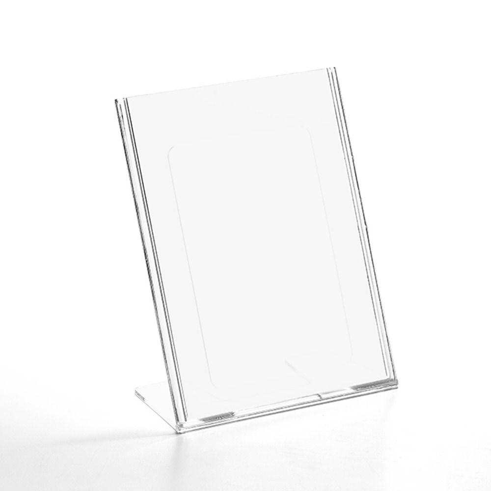 Display em Acrílico Tipo L A5 Vertical (15x21cm)