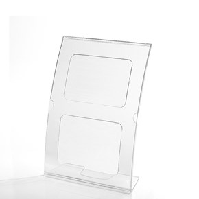Display em Acrílico Tipo L Curvado A5 Vertical (15x21cm)