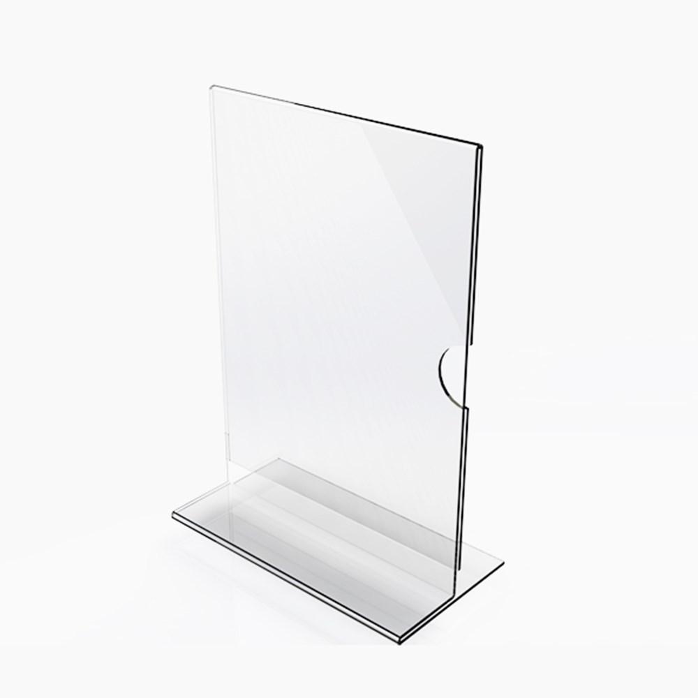 Display em Acrílico Tipo T A3 Vertical (30x42cm)