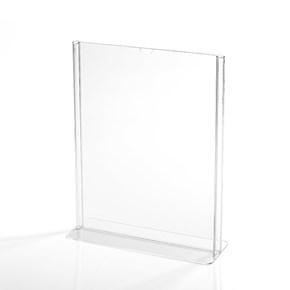 Display em Acrílico Tipo T A4 Vertical (21x30cm)