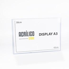 Display Transparente A3 Vertical (30x42cm)