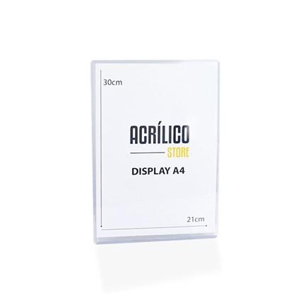 Display Transparente A4 Vertical (21x30cm)