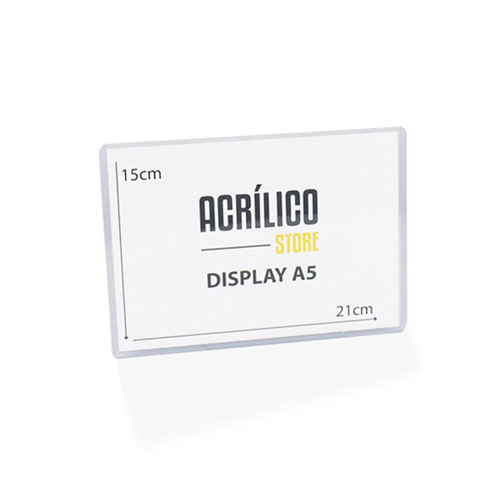 Display Transparente A5 Vertical (15x21cm)