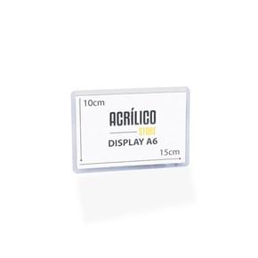 Display Transparente A6 Vertical (10x15cm)
