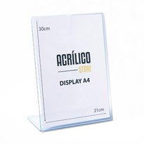 Display transparente tipo L A4 Vertical (21x30cm)