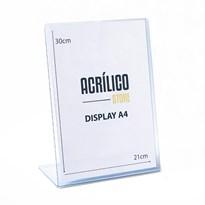 Display transparente tipo L A4 Vertical (21x30cm)