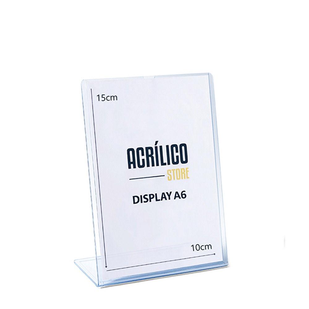 Display transparente tipo L A6 Vertical (10x15cm)