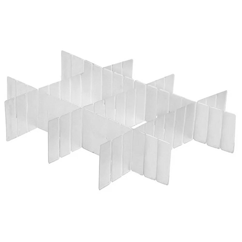 Divisórias ajustáveis para Gavetas - Kit 6 peças