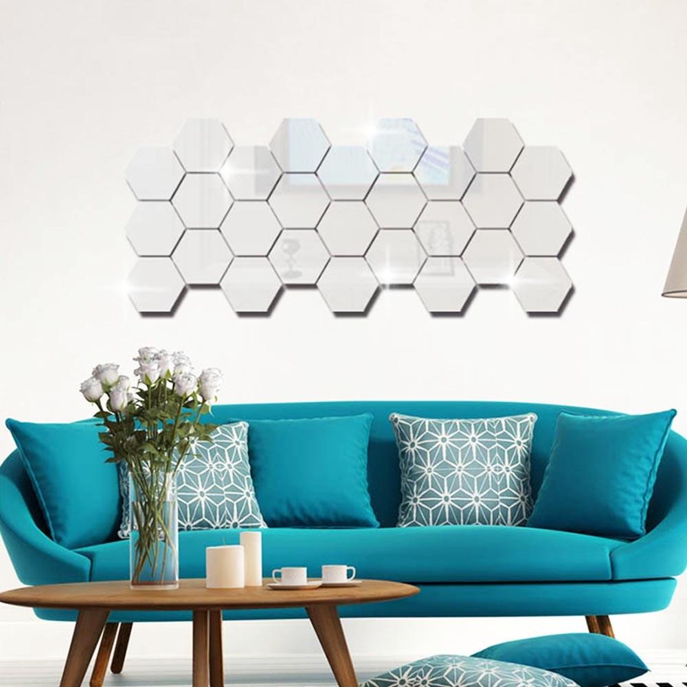 Espelho Decorativo Hexagonal - 10 peças