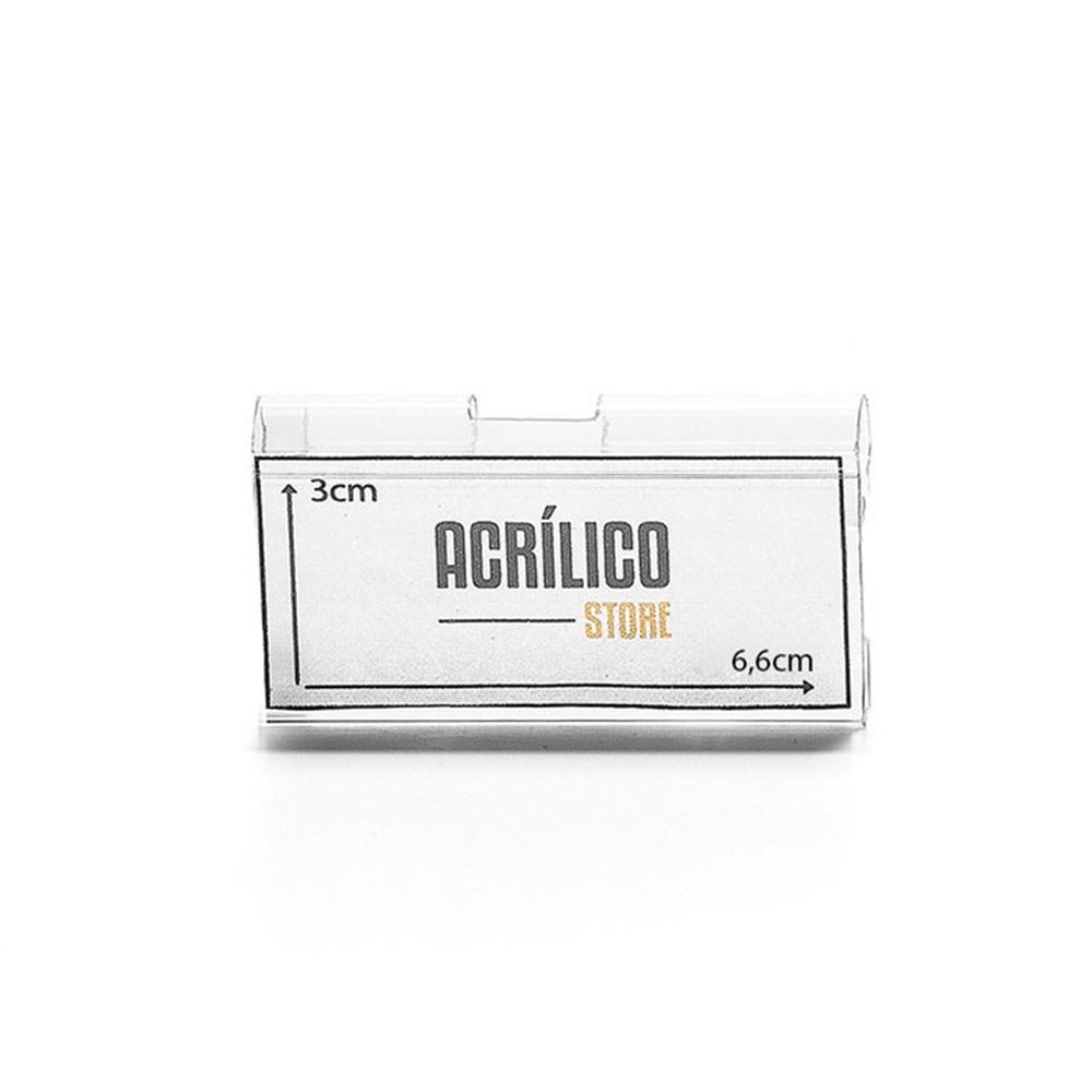 Etiqueta PVC para Gancheira 3x6,6cm