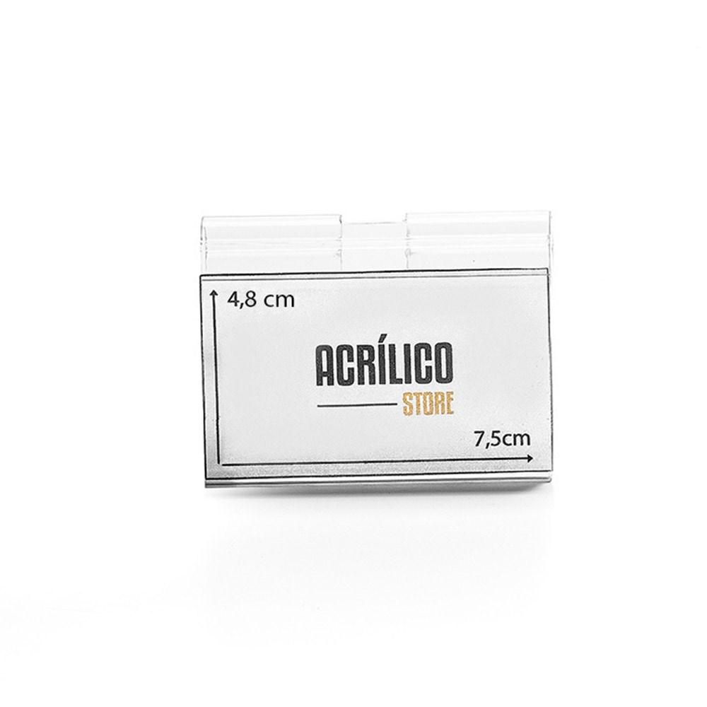 Etiqueta PVC para Gancheira 4,8x7,5cm