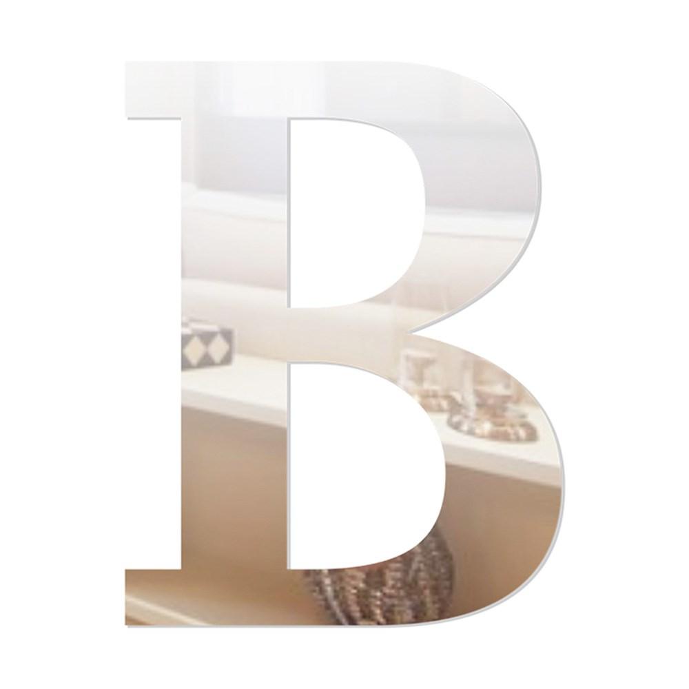 Letra em Acrílico Espelhado - B