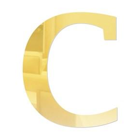 Letra em Acrílico Espelhado - C