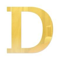 Letra em Acrílico Espelhado - D