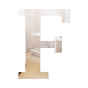 Letra em Acrílico Espelhado - F