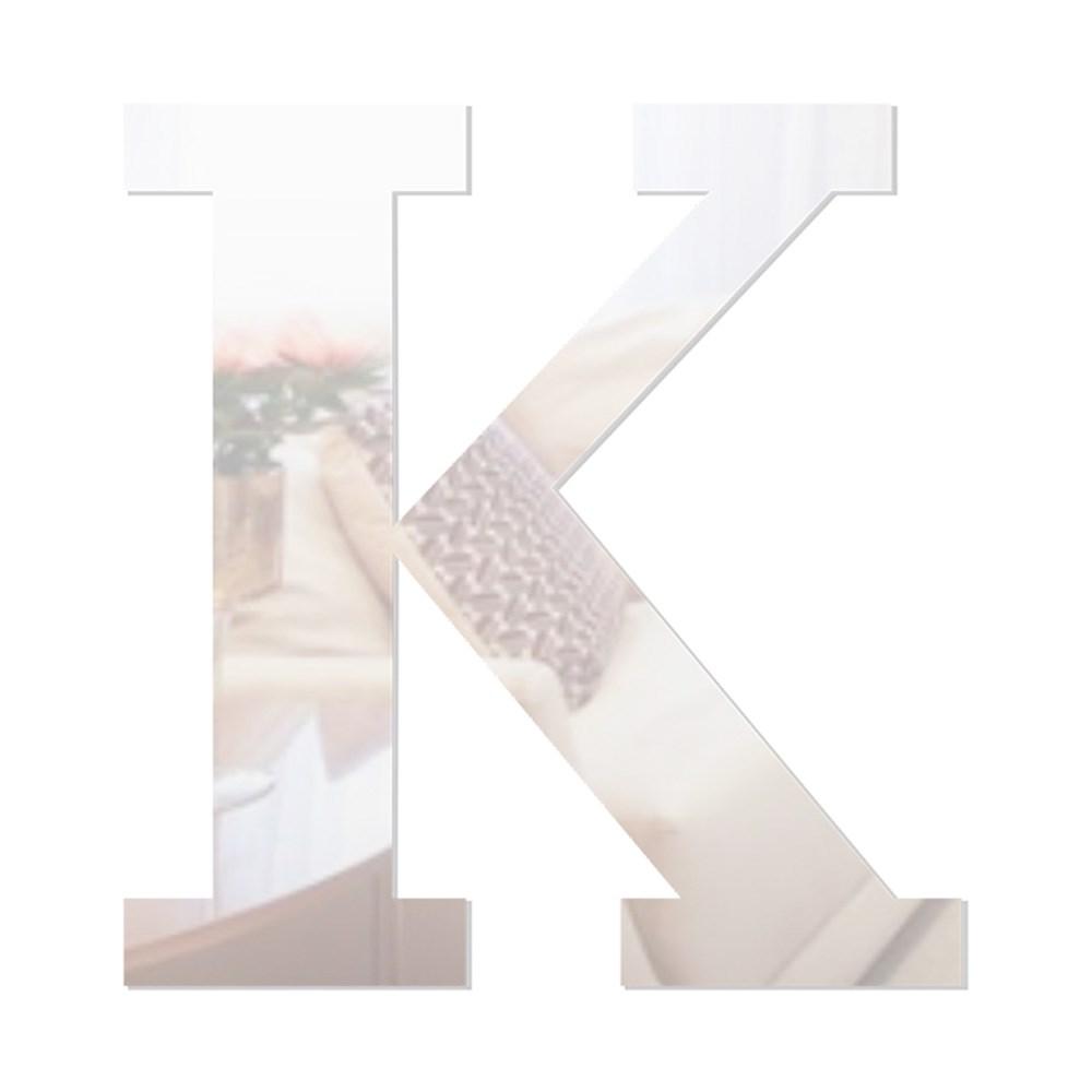 Letra em Acrílico Espelhado - K