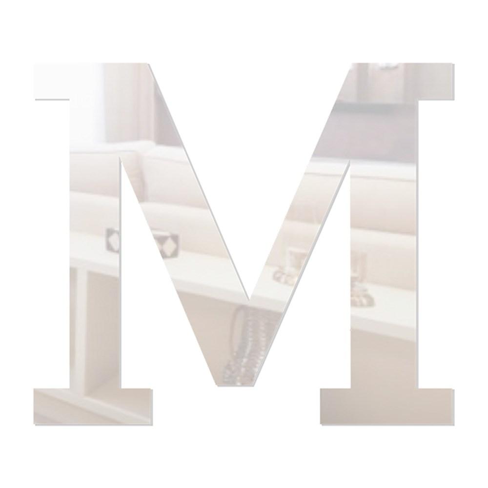 Letra em Acrílico Espelhado - M