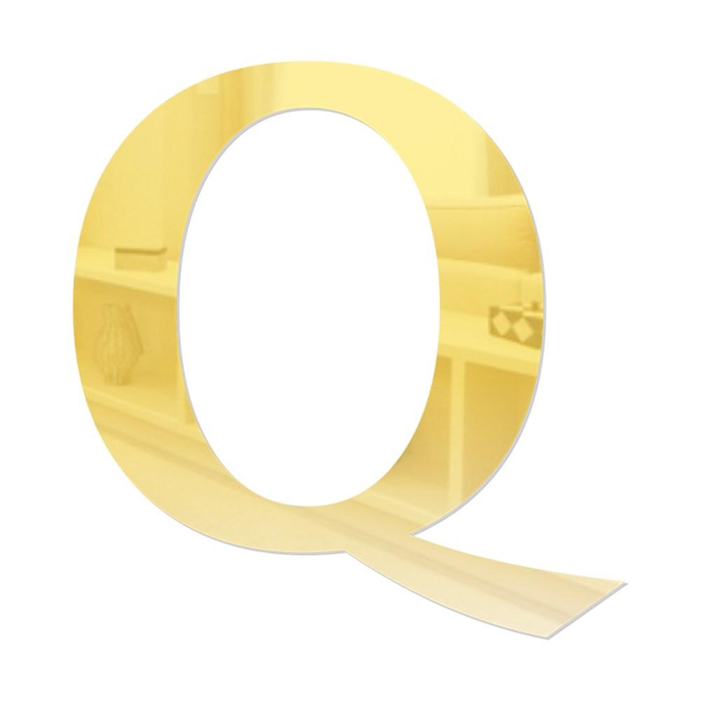 Letra em Acrílico Espelhado - Q