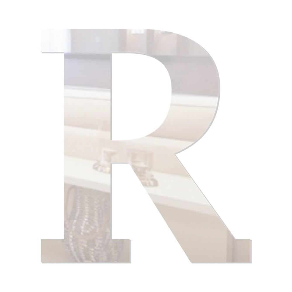 Letra em Acrílico Espelhado - R