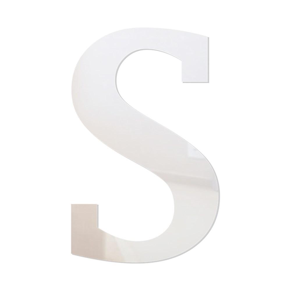 Letra em Acrílico Espelhado - S