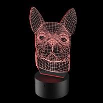 Luminária de Led - Bulldog Francês