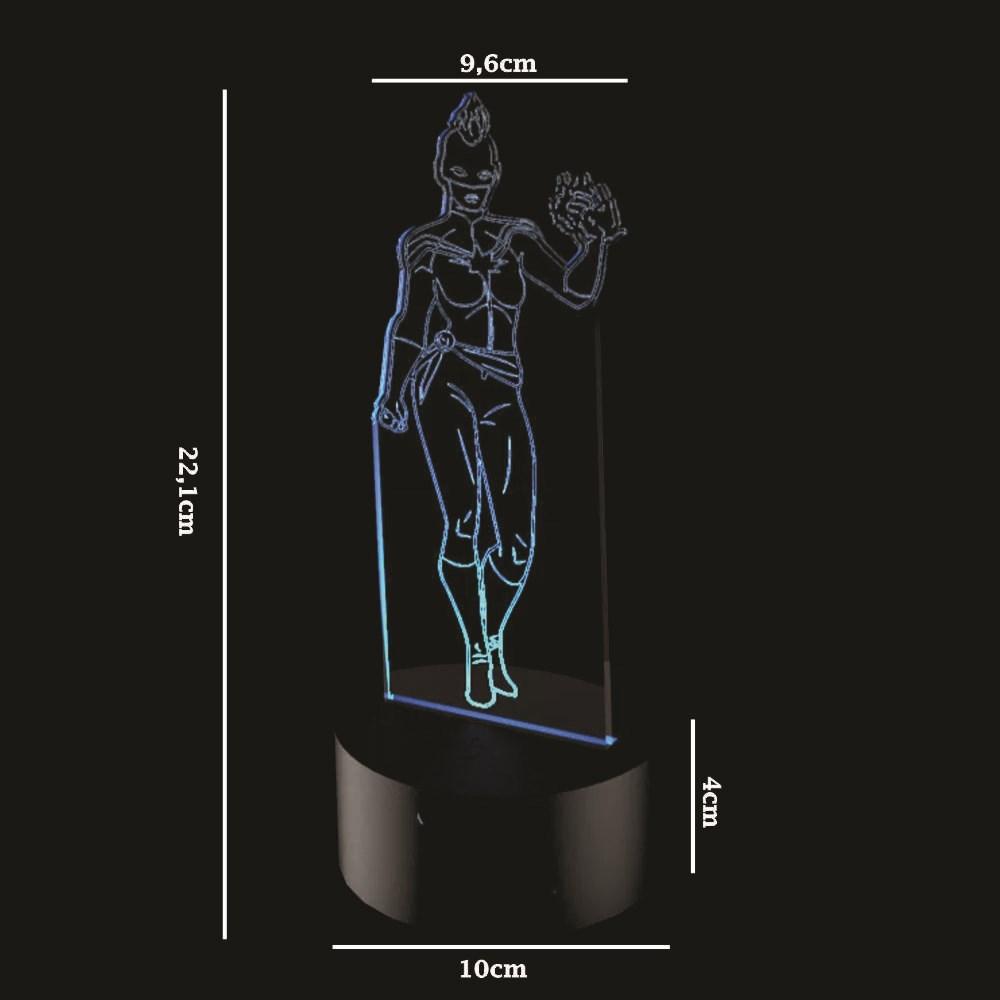 Luminária de Led - Capitã Marvel
