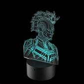 Produto Luminária de Led - Capitã Marvel Armadura