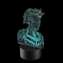 Luminária de Led - Capitã Marvel Armadura
