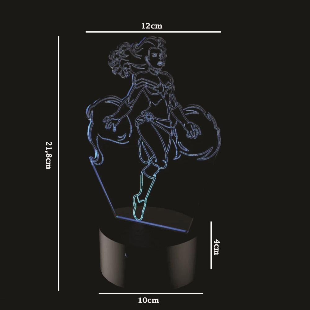 Luminária de Led - Capitã Marvel Heroína
