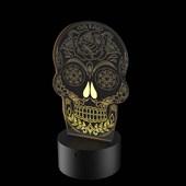 Produto Luminária de Led - Caveira Mexicana