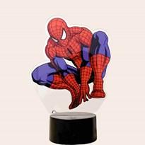 Luminária de Led com Impressão Digital - Homem Aranha
