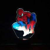 Produto Luminária de Led com Impressão Digital - Homem Aranha