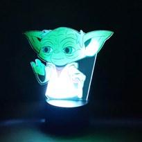 Luminária de Led com Impressão Digital - Mestre Yoda Star Wars