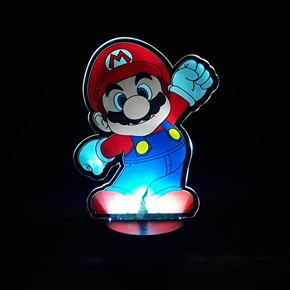 Luminária de Led com Impressão Digital - Super Mario