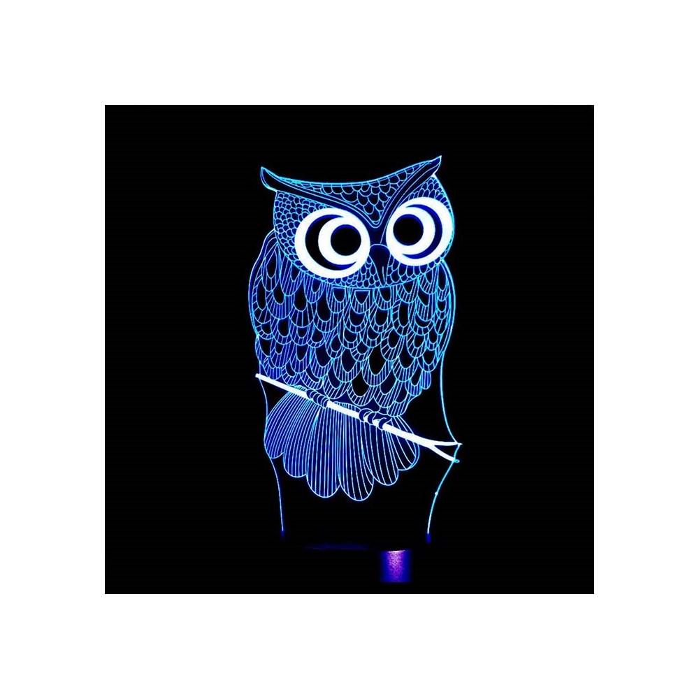 Luminária de Led - Coruja