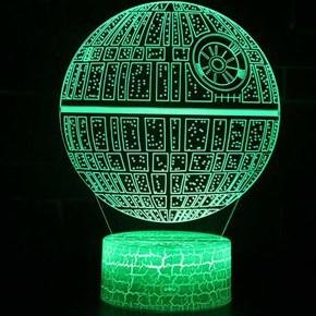 Luminária de Led - Estação Espacial Estrela da Morte Star Wars